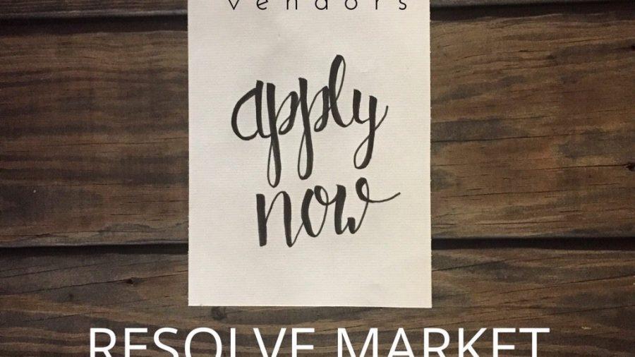 Resolve Market - Vendor Sign up!